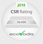 Sello CSR Rating Silver Ecovadis 2018